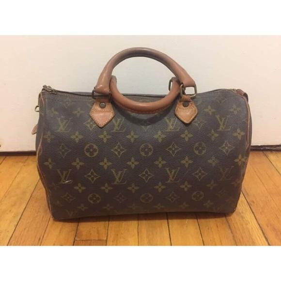 """b4119bd6049a Louis Vuitton Handbags - Vintage 70s 80s Louis Vuitton Speedy """"30"""" Handbag"""